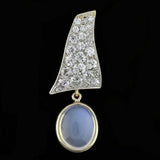 Edwardian Platinum Diamond Moonstone Earrings 2.00ctw