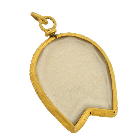 Victorian French 18kt Double-Sided Reversible Horseshoe Locket