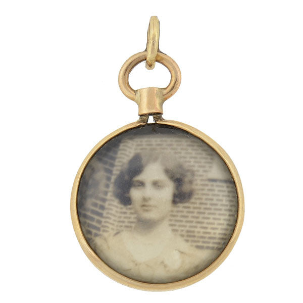 Victorian 14kt Gold Double-Sided Photo Locket/Pendant
