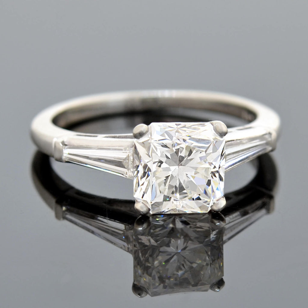 "Estate Platinum ""Dream Cut"" Diamond Engagement Ring 2.04ct"