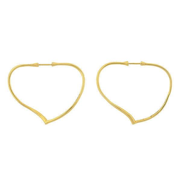TIFFANY & CO. ELSA PERETTI Estate 18kt Open Heart Hoop Earrings