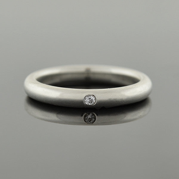 ELSA PERETTI for TIFFANY Sterling Silver Diamond Band Ring