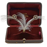 Victorian French Sterling/18kt Tremblé Diamond Flower Tiara in Original Box