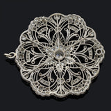 Edwardian Large Platinum & Diamond Pendant 3.85ctw
