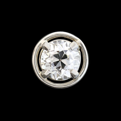 Edwardian 18kt Diamond Stud Earrings 0.50ctw