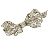 Edwardian Large Platinum & Diamond Bow Pin