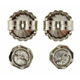 Edwardian Platinum Old European Cut Diamond Stud Earrings 1.50ctw