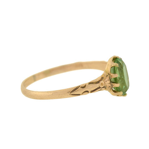 Victorian 14kt Emerald Ring