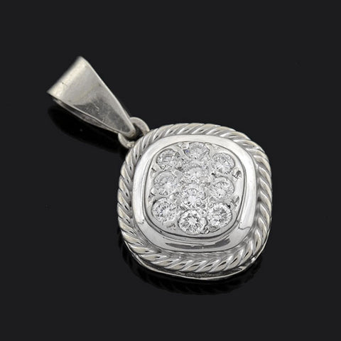 Estate 14kt Pavé Diamond Pendant .25ctw