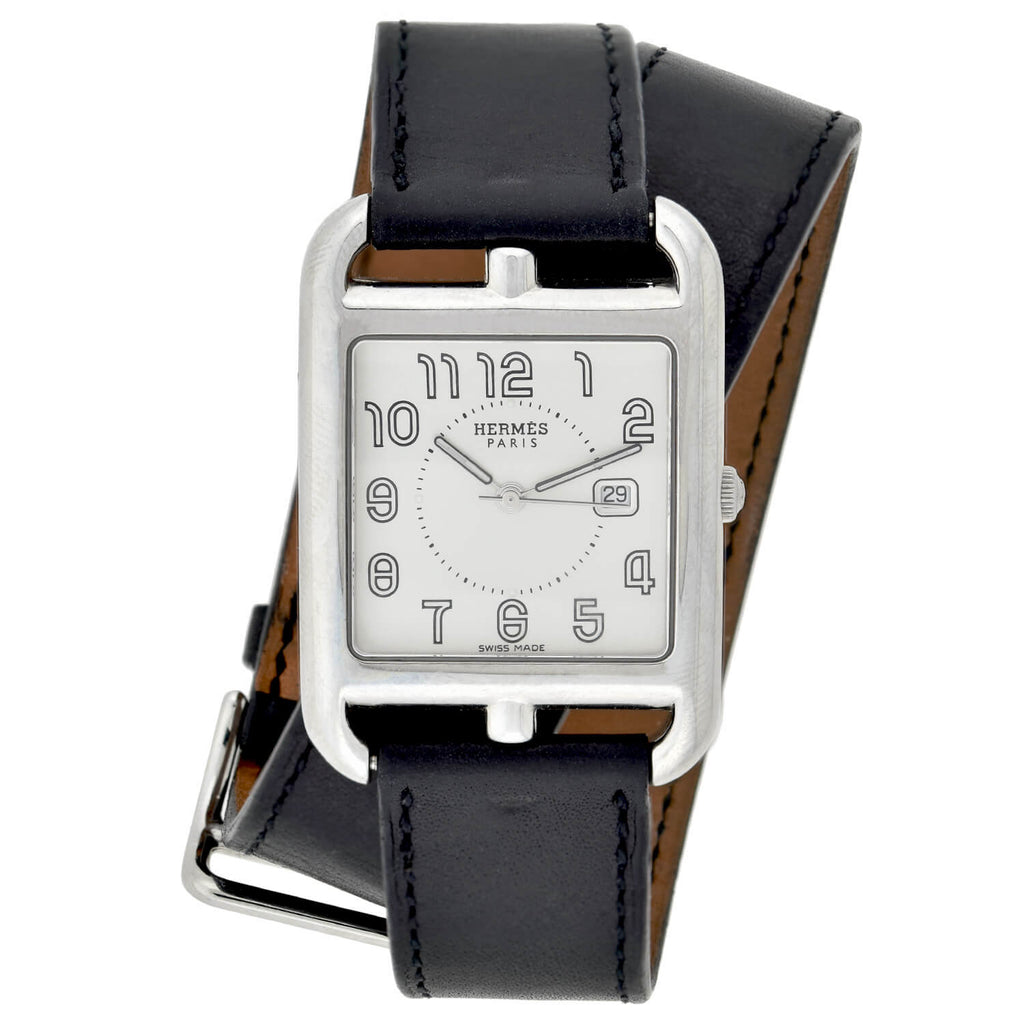 HERMÈS Estate Stainless Steel Cape Cod Quartz 29mm Watch