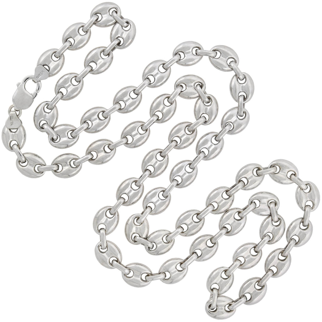 "Estate Sterling ""Gucci Style"" Anchor Link Chain Necklace 36.5"""