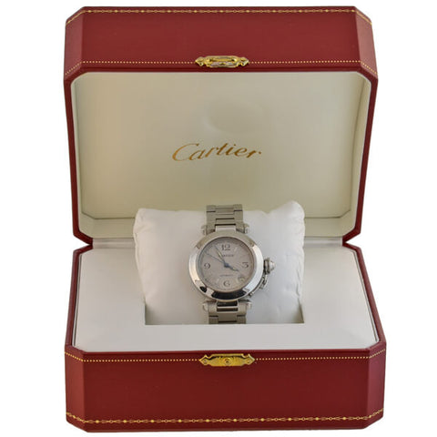 CARTIER Estate Pasha C 2324 Stainless Steel Watch