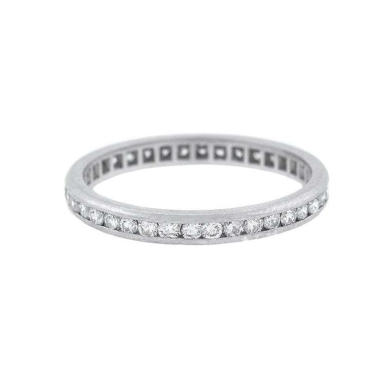 Art Deco Platinum Diamond Eternity Band 1.25ctw