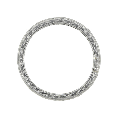 TIFFANY & CO. Estate Platinum Diamond Eternity Band 1.04ctw