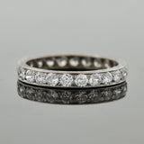 Edwardian Platinum European Cut Diamond Eternity Band 2ctw