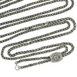 Victorian Sterling Chain with Etched Slide 90