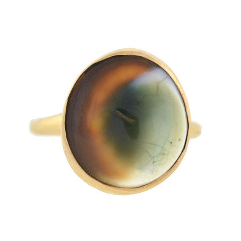 Retro 14kt Operculum Shell Ring