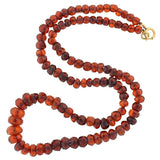Edwardian Faceted Natural Amber Bead Necklace 24