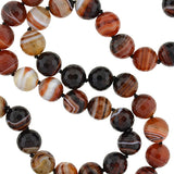 Estate Large Faceted Agate Bead Necklace with Sterling Clasp