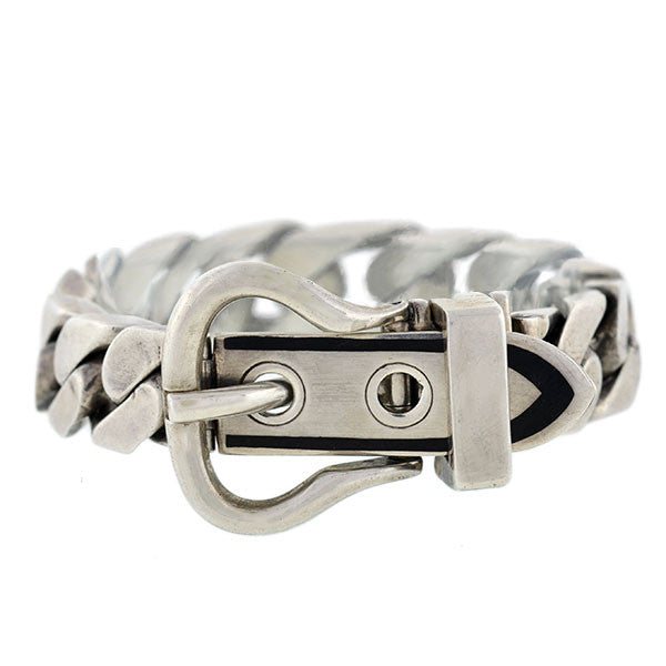 ANTONIO FALLACI Estate Sterling Chain Buckle Bracelet