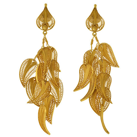 BARRY KIESELSTEIN-CORD Estate 18kt Citrine Intaglio Earrings