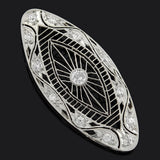 Edwardian Platinum & Diamond Filigree Pendant