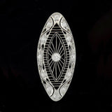 Edwardian Platinum Diamond Filigree Pendant 0.40ctw
