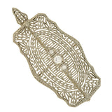 Edwardian 14kt White Gold Diamond Filigree Pin/Pendant