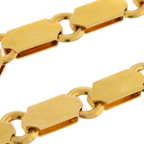 Victorian 18kt Yellow Gold Wide Book Chain Necklace 18