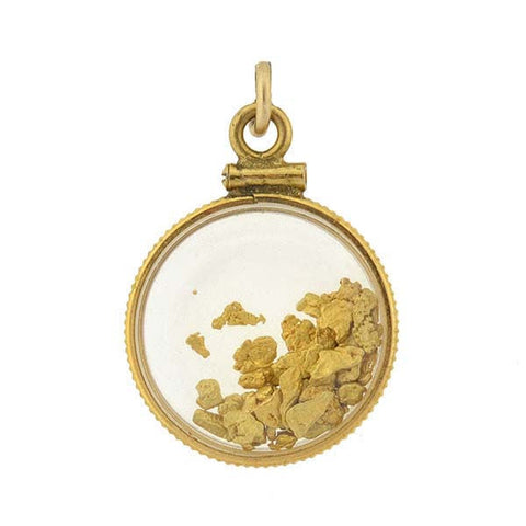 Vintage Gold-Filled & 22kt Gold Nugget Charm/Pendant