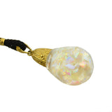 Art Deco 14kt Floating Opal Ball Necklace