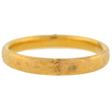 Victorian 14kt Gold Floral Etched Bangle Bracelet