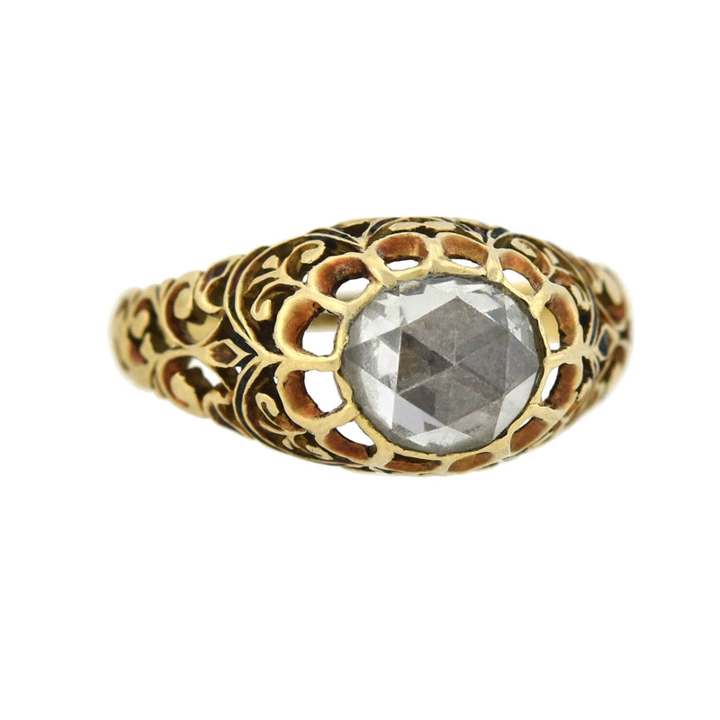 Edwardian Platinum & Diamond 3-Stone Ring .50ctw