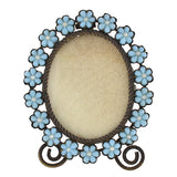 Victorian Brass & Glass Forget-Me-Not Picture Frame