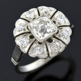 Edwardian Platinum French Cut Diamond Cluster Ring 1.10ct