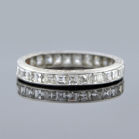 Edwardian Plat Square Cut Diamond Eternity Band 2.25ct