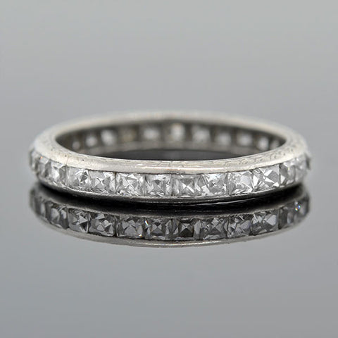 Art Deco Platinum & French Cut Diamond Band 2.50ctw
