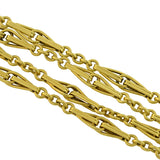 Late Victorian Long 18kt Gold Link 52