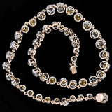 Victorian French Silver & French Paste Riviera Necklace