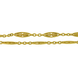 Victorian Long French 18kt Gold Link 60