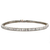 Art Deco Platinum French Cut Diamond Line Bracelet 11ct