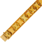 Art Deco French 18kt Gold Citrine Link Bracelet