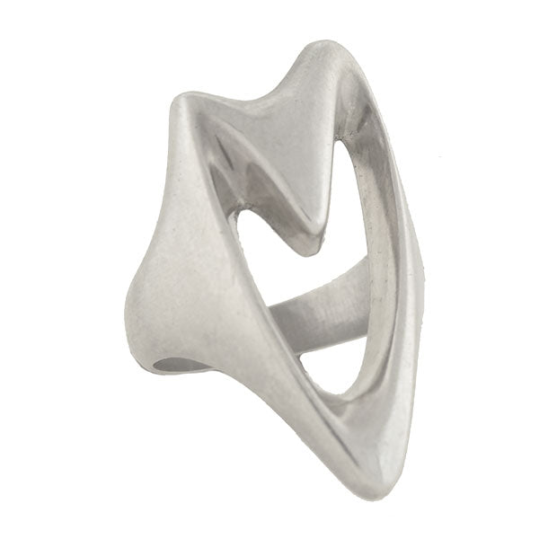 GEORG JENSEN Modernist Sterling Silver Heart Ring No. 89