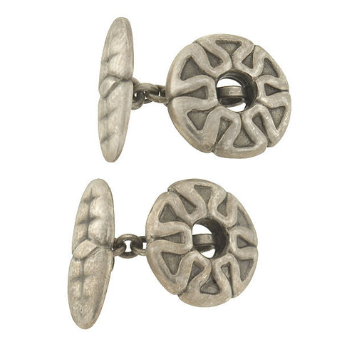 GEORG JENSEN Vintage Sterling Silver Textured Cufflinks