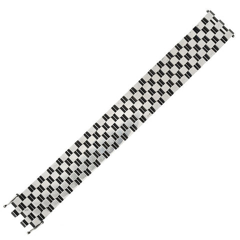ERNST FORSMANN for GEORG JENSEN Rare Sterling Checkerboard Bracelet