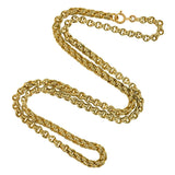 Victorian Gold-Filled Double Split Ring Chain Necklace 22