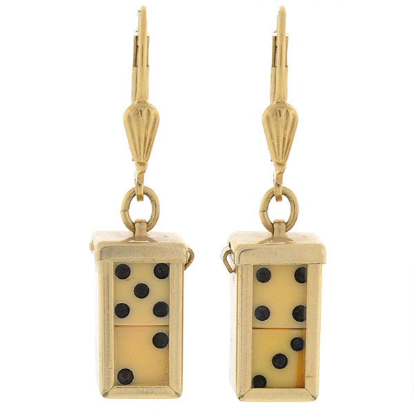 Vintage Gold Filled Removable Dice Earrings