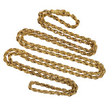 Victorian Gold-Filled Textured Chain Necklace w/ Dragon Link