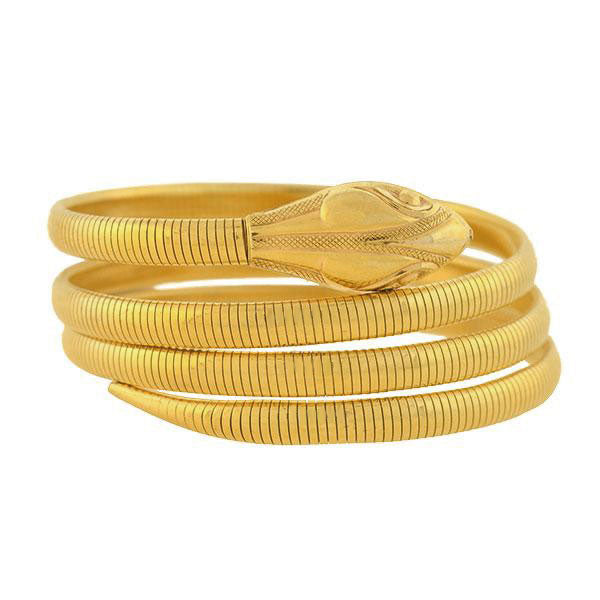 FORSTNER Late Art Deco 12kt Gold Filled Snake Wrap Bracelet