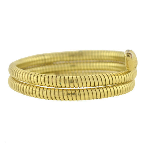 AMERIKANER Late Art Deco Gold Filled Snake Wrap Bracelet